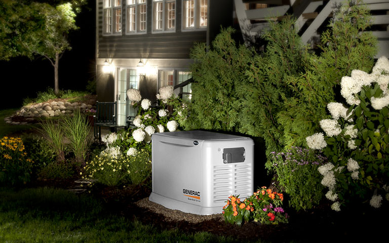 generac generator installed outside a home