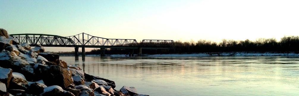 bridge to st. charles over missouri river